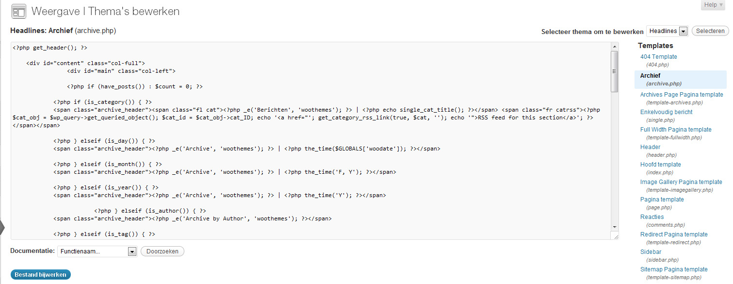 Wordpress-thema-vertalen-archief
