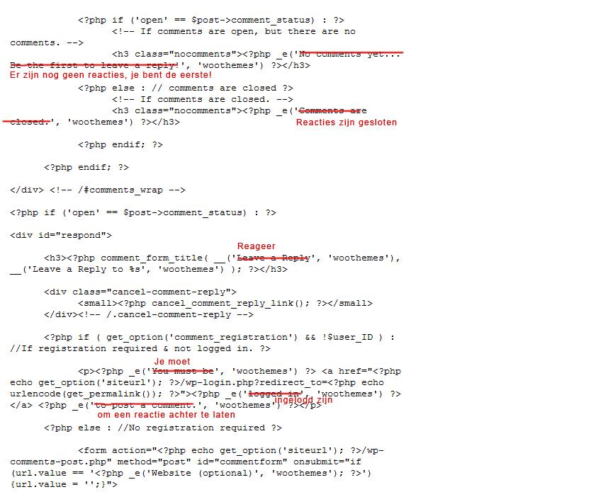 Wordpress-thema-vertalen-comments-aanpassen