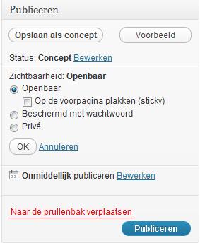 bericht-maken-wordpress-publiceren-extra-opties