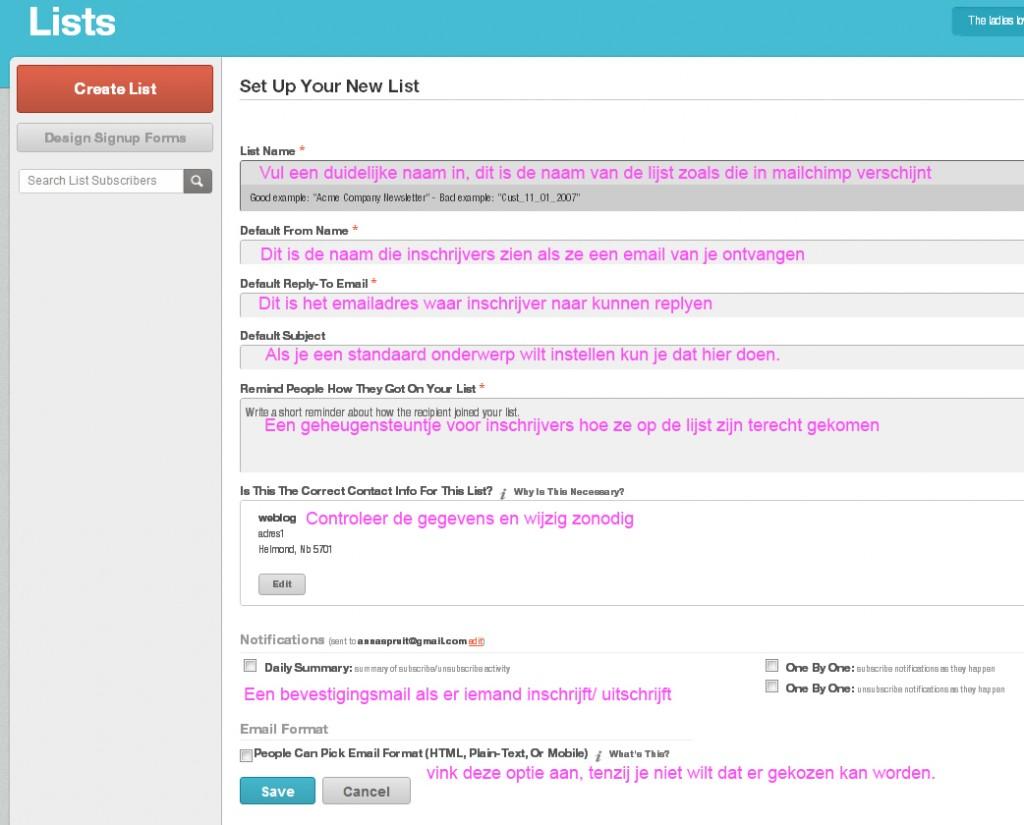 maak-emaillijst-mailchimp-nieuwsbrief-wordpress