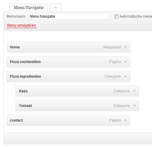 menu-maken-wordpress-aanpassen