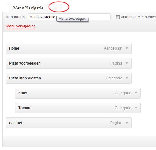 menu-toevoegen-wordpress